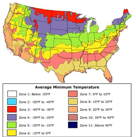 zones for gardening map usda plant hardiness zones california