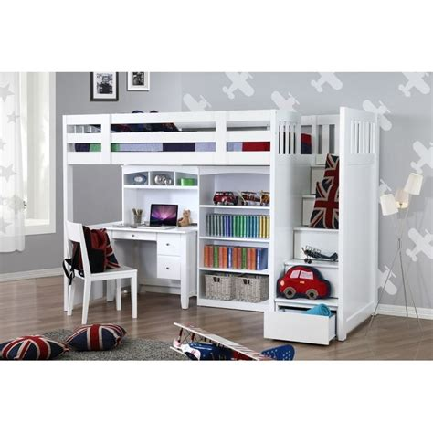 bunk bed with desk and bookcase 16 best single bunk bed with desk images on