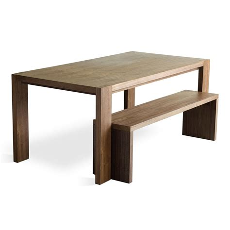walnut dining bench plank table bench dining table gus modern