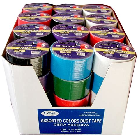 duct colors 48 units of duct assorted colors 1 89 quot x10 yds at