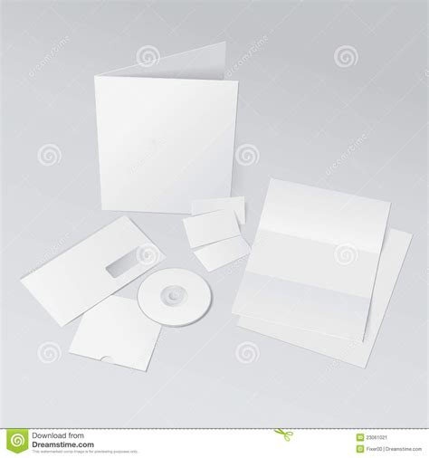Business Card Envelope Template Vector by Id Template Stock Image Image 23061021
