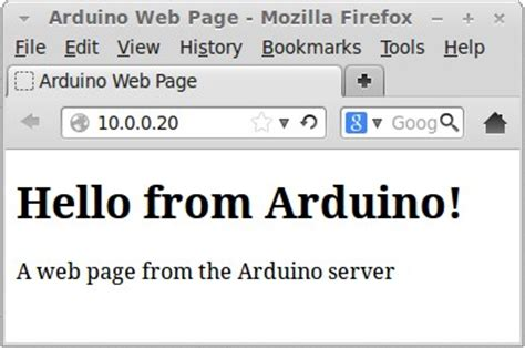 tutorial arduino web server basic ethernet shield arduino web server