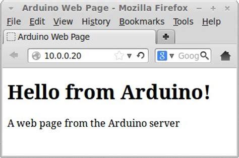 tutorial web server basic ethernet shield arduino web server