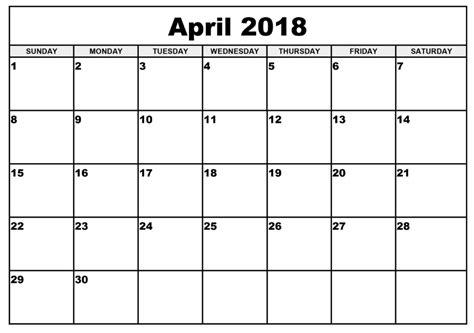 calendar april 2018 uk free calendar