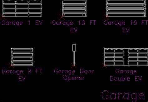 Cad Garage Doors by Garage Doors In Autocad Drawing Kamocad