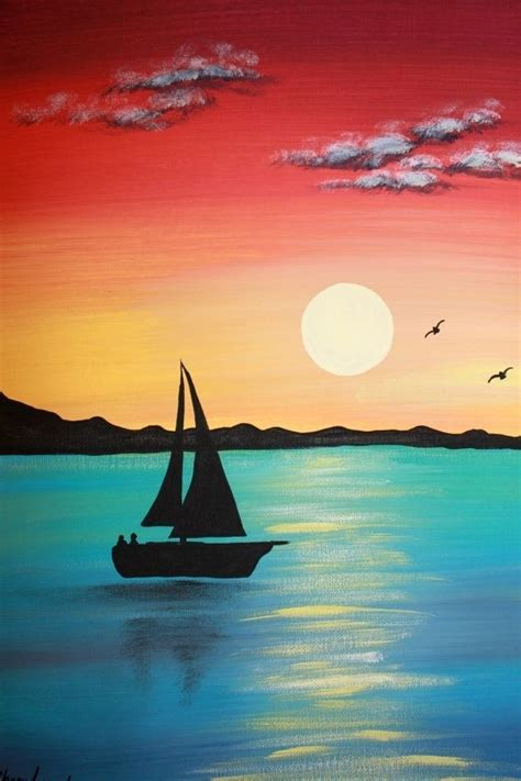 best 20 easy acrylic paintings ideas on pinterest easy landscape paintings for beginners step by step
