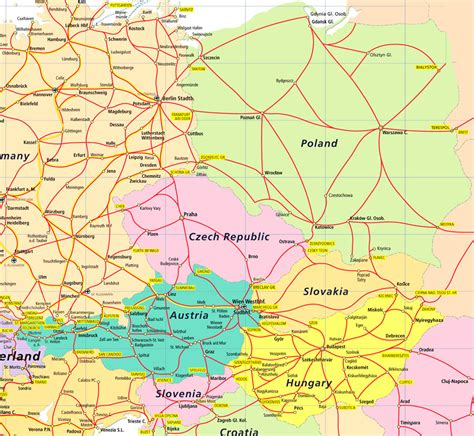 map of central europe maps central europe map