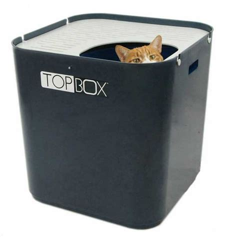 smartcat ultimate top box cat litter tray grey on sale