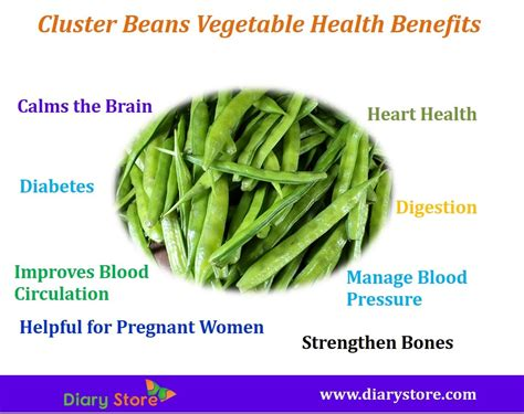 cluster beans vegetable health benefits nutritional facts