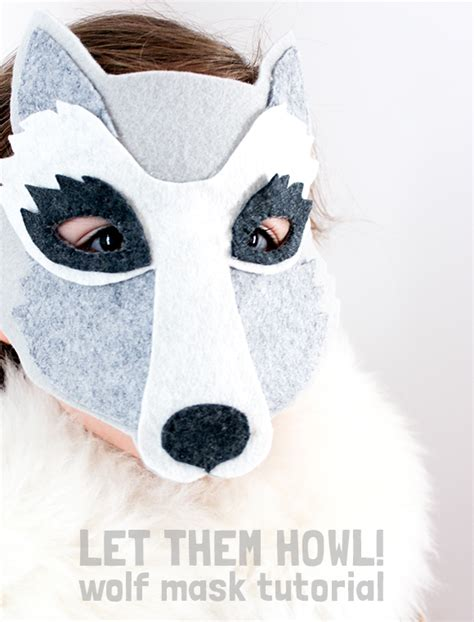 How To Make A Wolf Mask Out Of Paper - diy gifts for boys