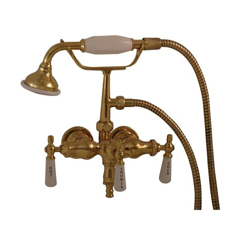 old style bathtub faucets pegasus 3 handle claw foot tub faucet with old style spigot and hand shower in polished brass