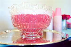baby shower pink punch