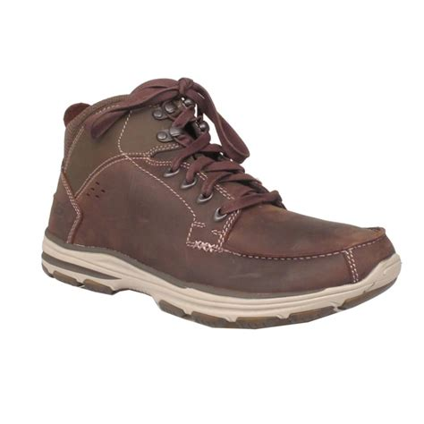 sketchers boots sketchers mens boot 65169 chocolate