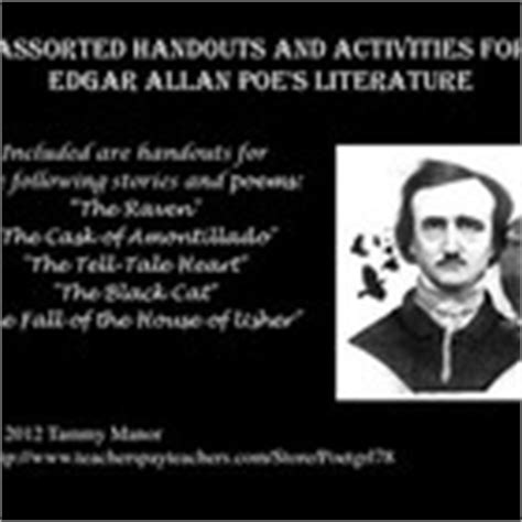 edgar allan poe biography and questions teaching edgar allan poe resources a collection of ideas