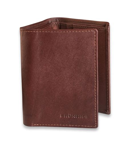 tri fold wallet card template brunhide mens slim real leather trifold wallet genuine