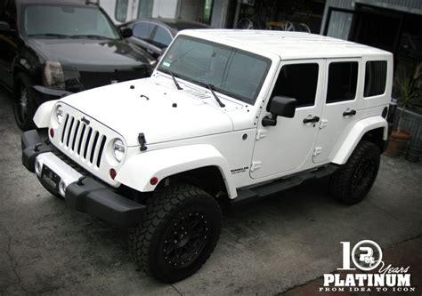 white jeep sahara snow white jeep sahara unlimited x platinum motorsport