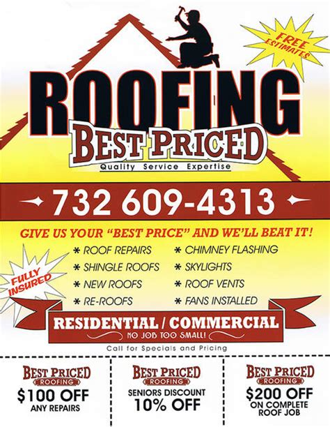 best priced roofing flyer