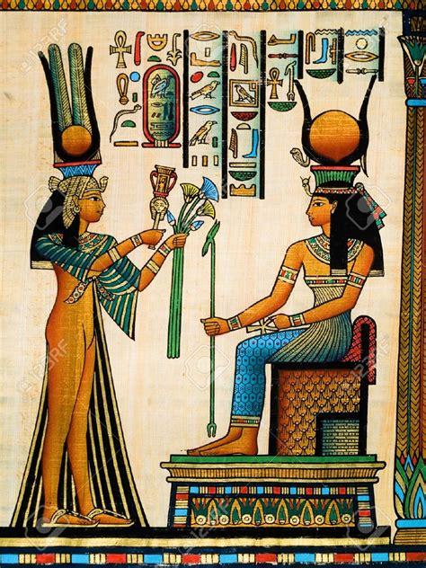 imagenes egipcias isis rescatalahistoria pintura egipcia