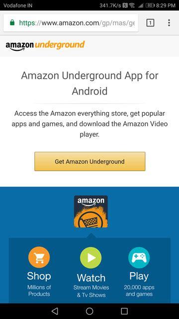 amazon underground apk how to install amazon app store on android droidviews