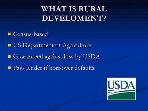 us dept of agriculture rural development usda presentation
