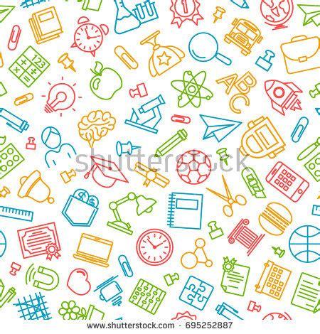 pattern design school pattern welcome back school modern thin stock vector