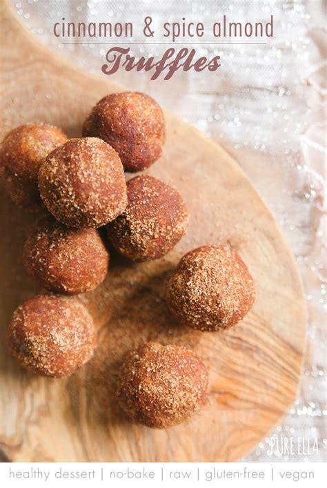 gluten free vegan recipes cinnamon spice almond truffles ella