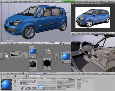 car design editor software blender v2 46