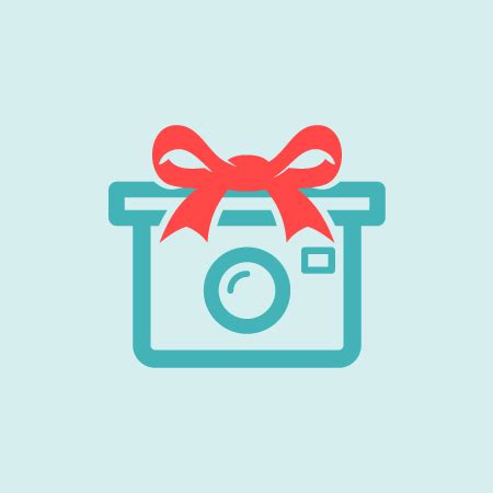 camera gift logo template for free. freebie vector logo