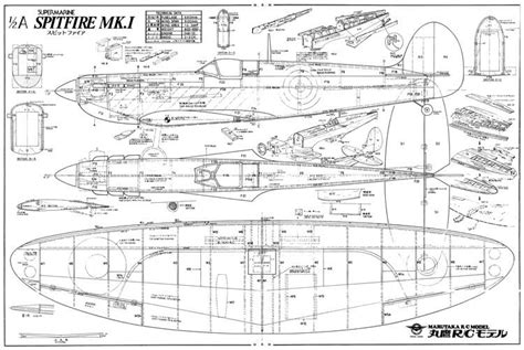 create a blueprint free spitfire mk1 marutaka plans aerofred free