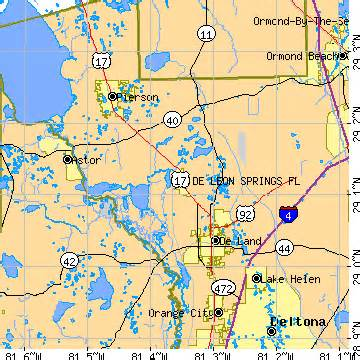 deleon springs florida map de springs florida fl population data races