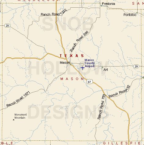mason county texas color map