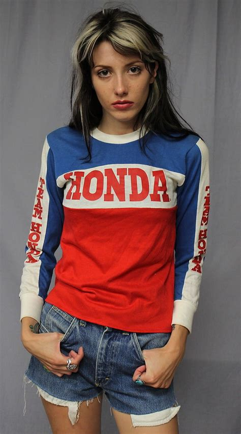 retro motocross jersey vintage 70s 80s team honda motocross jersey t shirt x