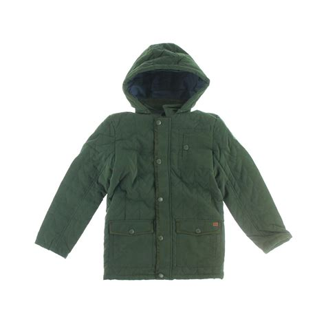 Hooded Quilted Coats Outerwear by Connection 1472 Boys Quilted Hooded Outerwear Coat