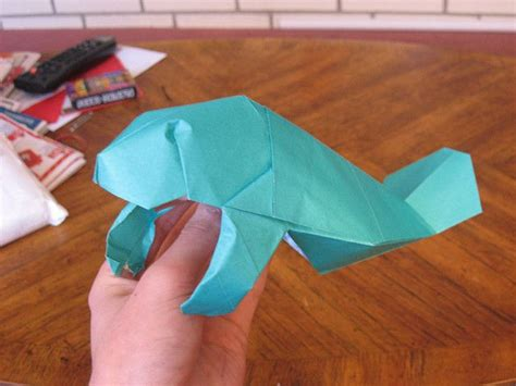 Manatee Origami - origami manatee manatees origami and