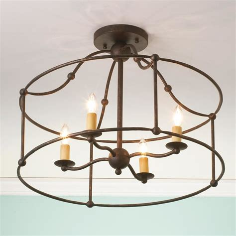 Wrought Iron Ceiling Light wrought iron frame ceiling lantern ceiling light by