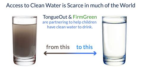 tongueout partners with firmgreen for clean water