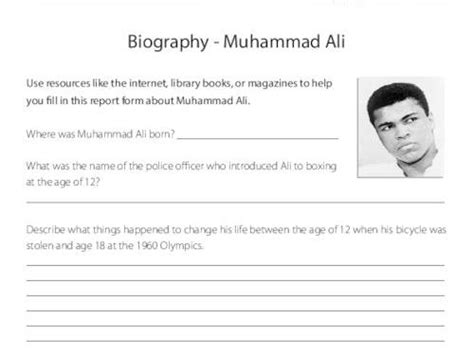 Muhammad Ali Biography Ks2 | ks2 biography resource muhammad ali by primaryleap
