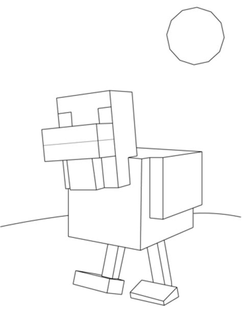 minecraft coloring pages chicken minecraft chicken coloring page free printable coloring