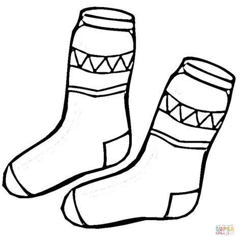 sock coloring page kid socks coloring page free printable coloring pages