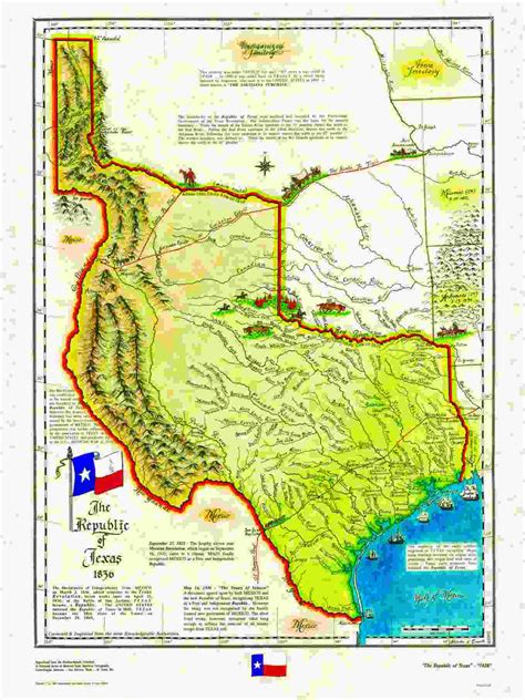 republic of texas map 1845 states that been independent countries historum history forums