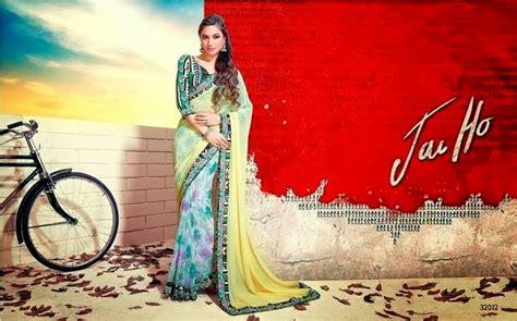 film india terbaru jai ho bollywood jai ho saree collection 2014 indian sarees