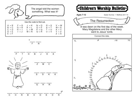 Printable Children S Church Activities | children s church lessons for special days children s