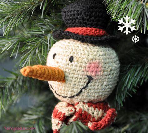 crochet pattern en español crochet a snowman free pattern yarnplaza com for