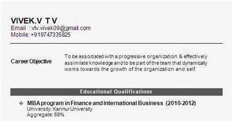 International For Mba Freshers by Mba International Business Fresher Resume