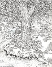 Treehouse Community Costa Rica - fairy tree drawing by jennifer mcpherson