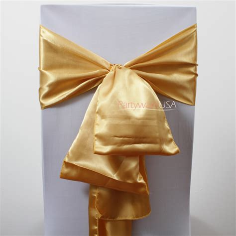 Gold Sashes For Chairs by Wedding Chair Covers Chair Covers Table Linens