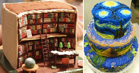Creative Cakes by 21 Creative Cakes That Blur The Line Between Confectionery