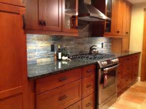 slate backsplash kitchen kitchen remodel cherry cabinets slate backsplash ubatuba granite
