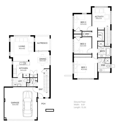 Narrow 2 Story House Plans by 3 Bedroom 2 Storey House Plans 3 Story House Plans