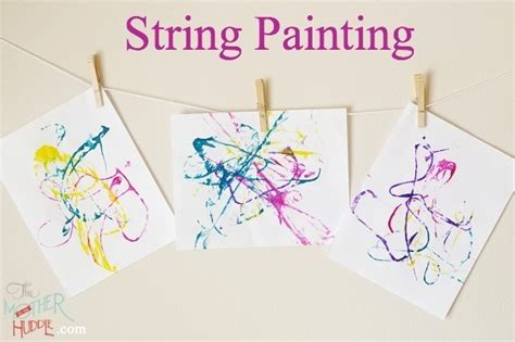 String For Children - string painting craft projects